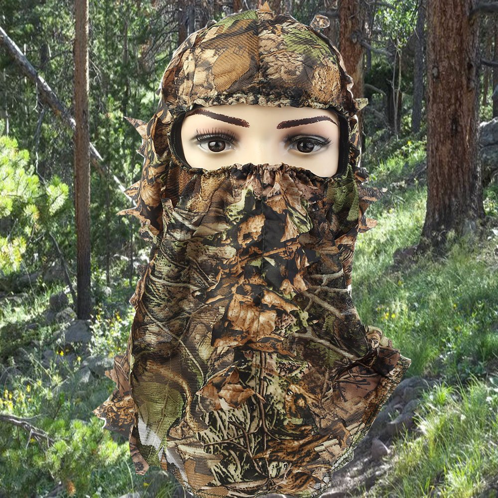ABCAMO Light Weight Hunting Camouflage Full Cover 3D Leafy Face Mask by ABCAMO (Image #2)