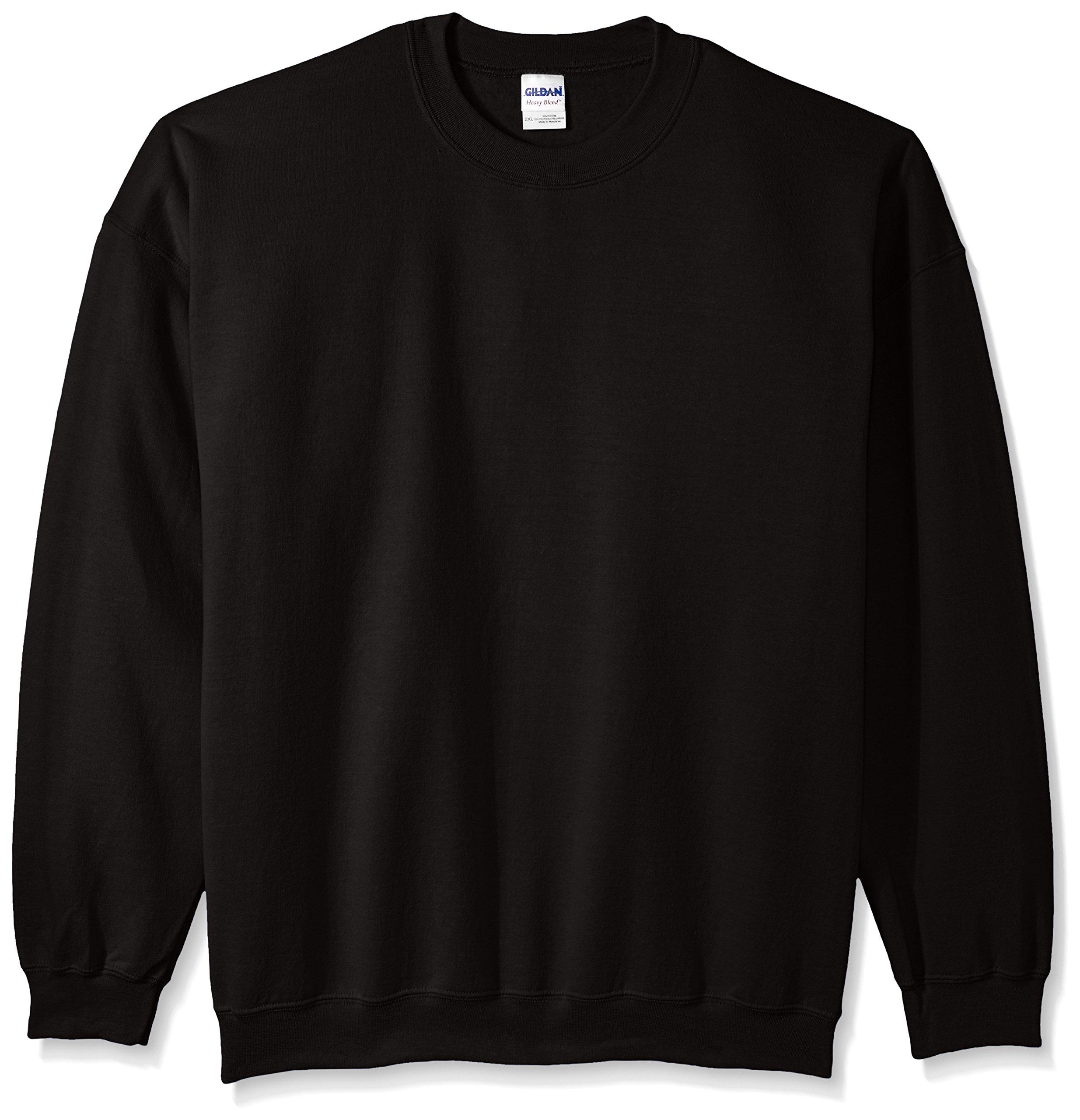 Gildan Men's Heavy Blend Crewneck Sweatshirt - XXX-Large - Black