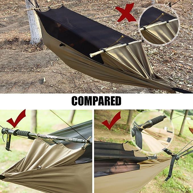 FREE SOLDIER Outdoor Survival-tragbar zum Aufh/ängen Bett mit Moskitonetz Leichte Taktische Fallschirm H/ängematte