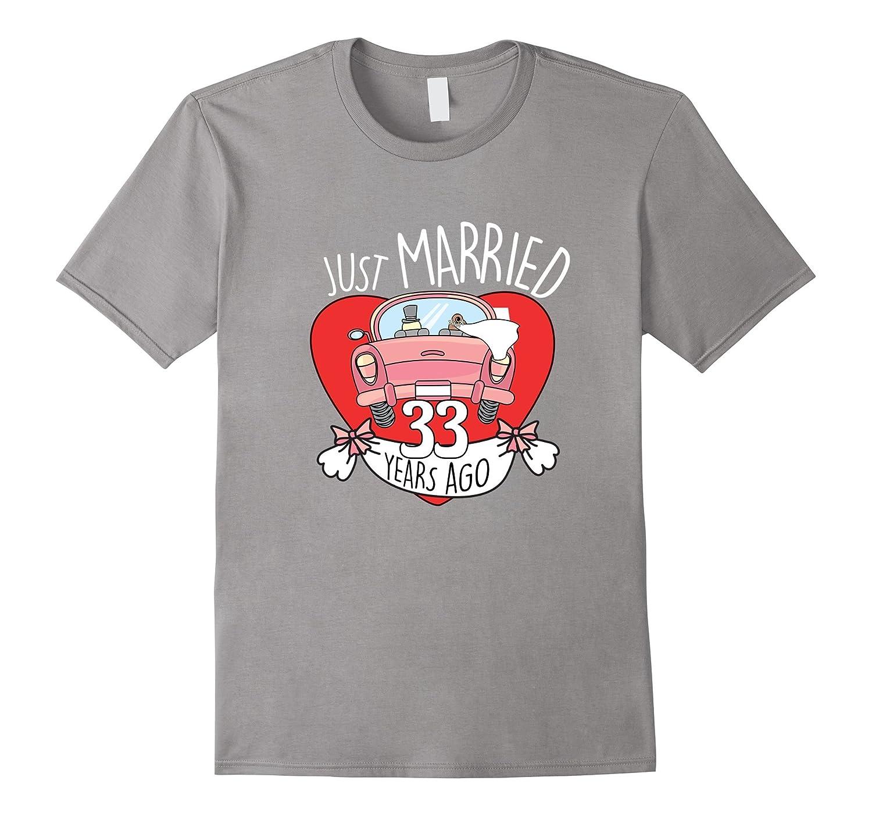 33 Years Of Love Tshirt Funny 33rd Wedding Anniversary Gift Hntee