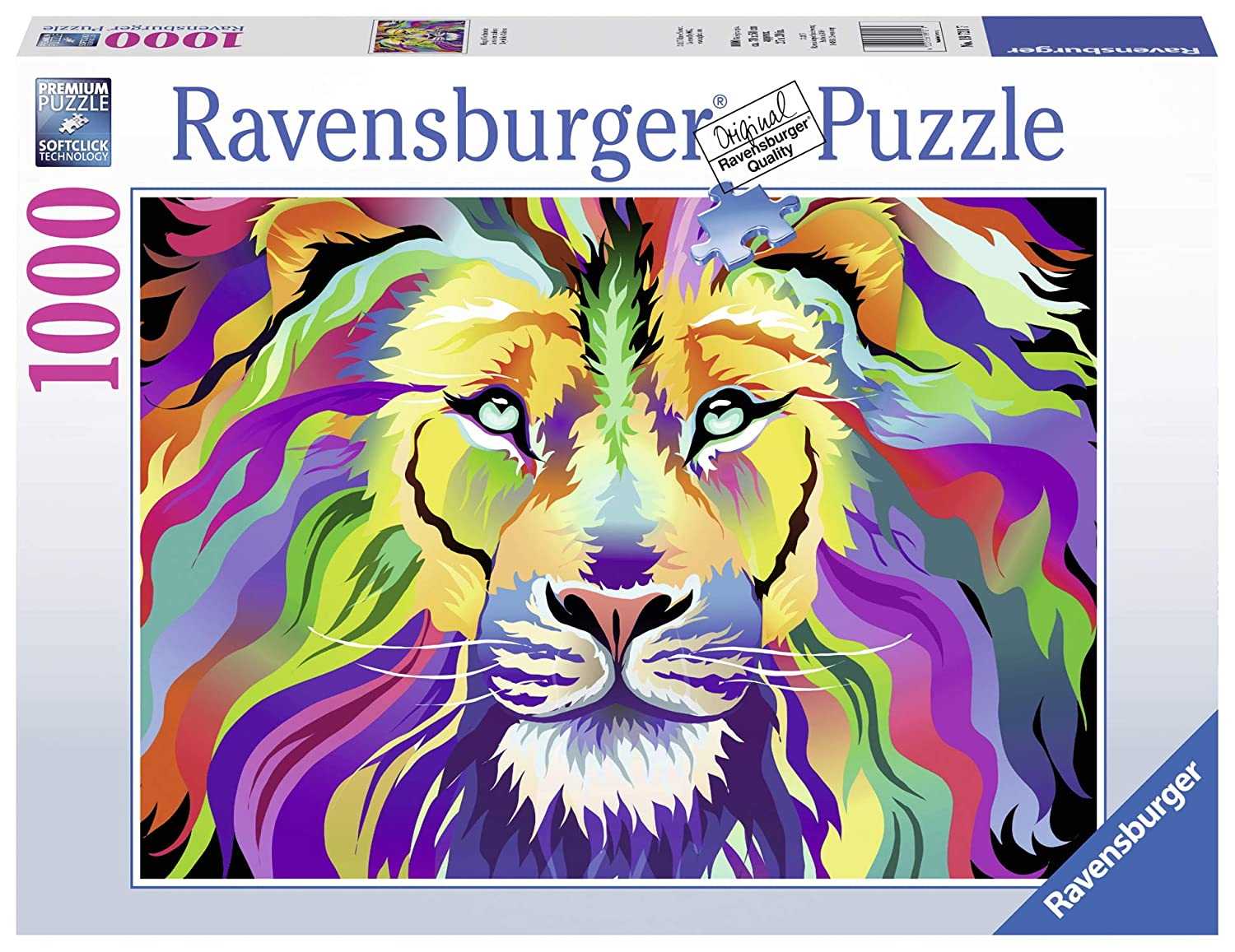 Ravensburger King of Technicolor 1000 Piece Jigsaw Puzzle for Adults – Every Piece is Unique, Softclick Technology Means Pieces Fit Together Perfectly