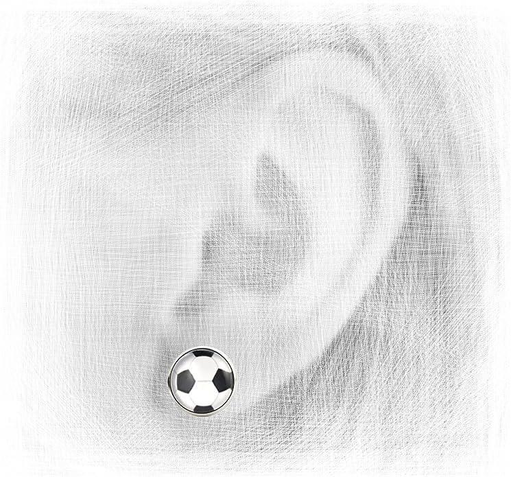 Fußball Ohrringe 2 Stück schwarz weiß EM WM Fußballparty