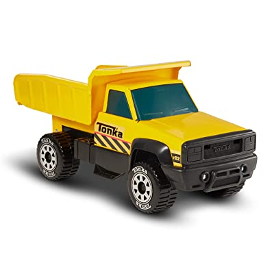 Tonka Classic Steel Quarry Dump Truck Vehicle, Yellow: Toys & Games