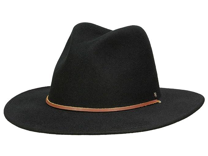 db2fdb721f29c Brixton Field - Sombrero Traveller para hombre - negro  Amazon.es  Ropa y  accesorios