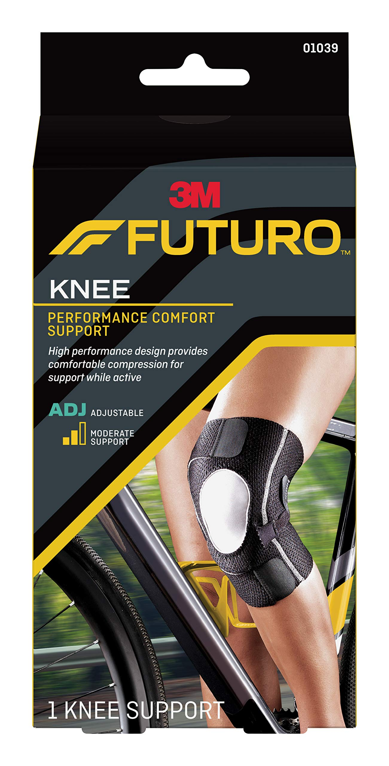 5dd13b60df Futuro Precision Fit Knee Support, Moderate Support, Adjust to Fit