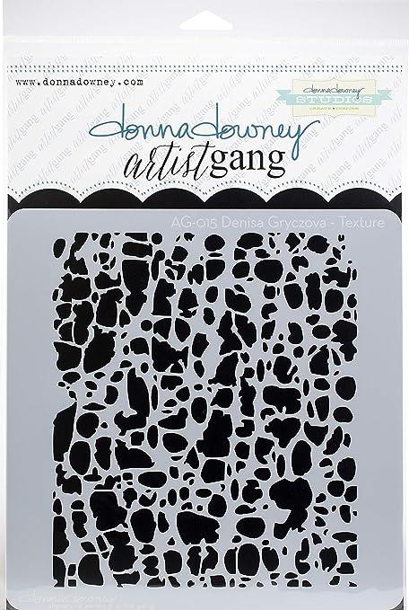 Multi Donna Downey Stencils AG-015 Scrapbooking