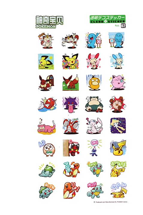 Cool pokemon vinyl laptop decals custom pokemon sticker sheet cute pokemon anime decals