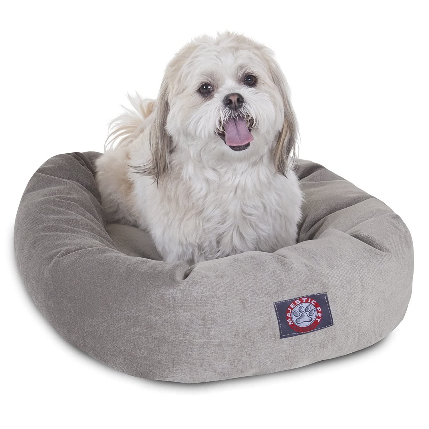 24 inch Vintage Villa Collection Micro Velvet Bagel Dog Bed by Majestic Pet Products