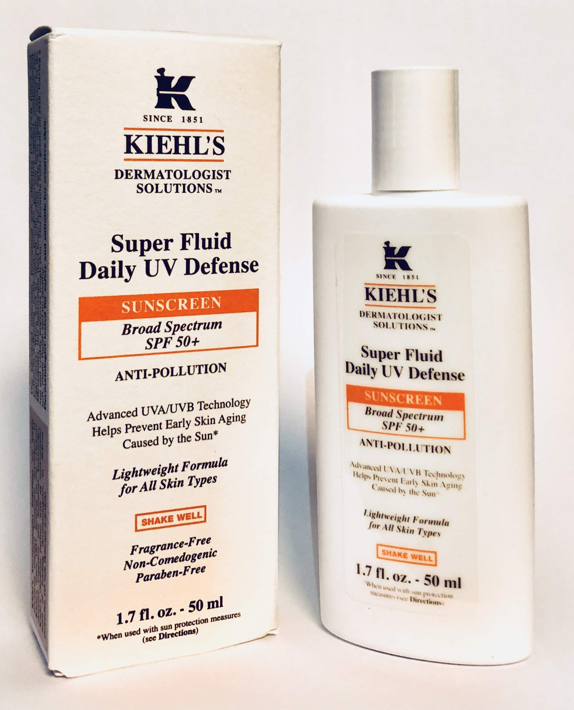 Kiehls Super Fluid UV Defense Sunscreen SPF 50+ 1.7 Oz