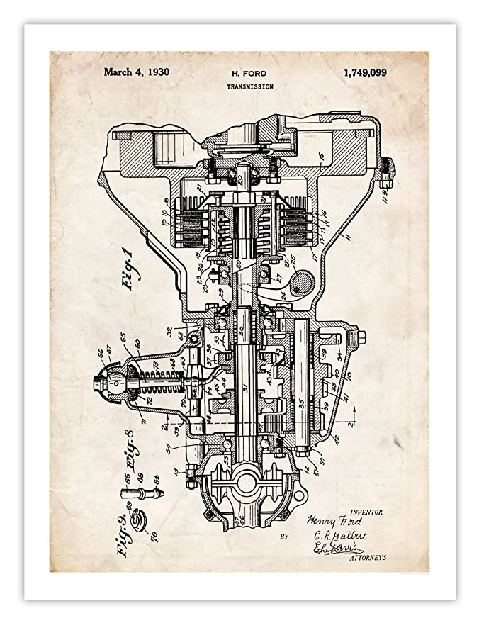Amazon car transmission invention poster henry ford 1930 us amazon car transmission invention poster henry ford 1930 us patent art print 18x24 auto trans guy gift posters prints malvernweather Image collections