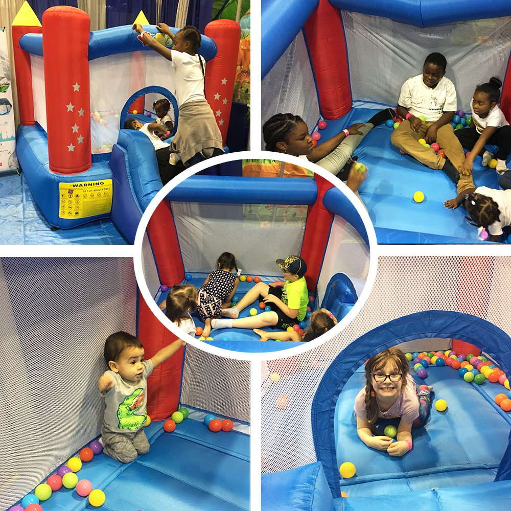 YARD Party Event Games Kids Bounce House Home Activities Children Inflatable Bouncy Castle with Slide Include Blower (9.5'x6.5'x6.5') by YARD (Image #2)