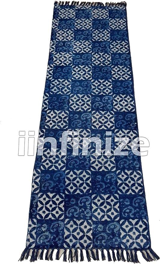 iinfinize - Alfombra India Decorativa de algodón 100% teñido de ...