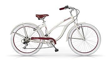 MBM Honolulu - Bicicleta de Paseo para Mujer de 6 velocidades, Cuadro de Acero Talla