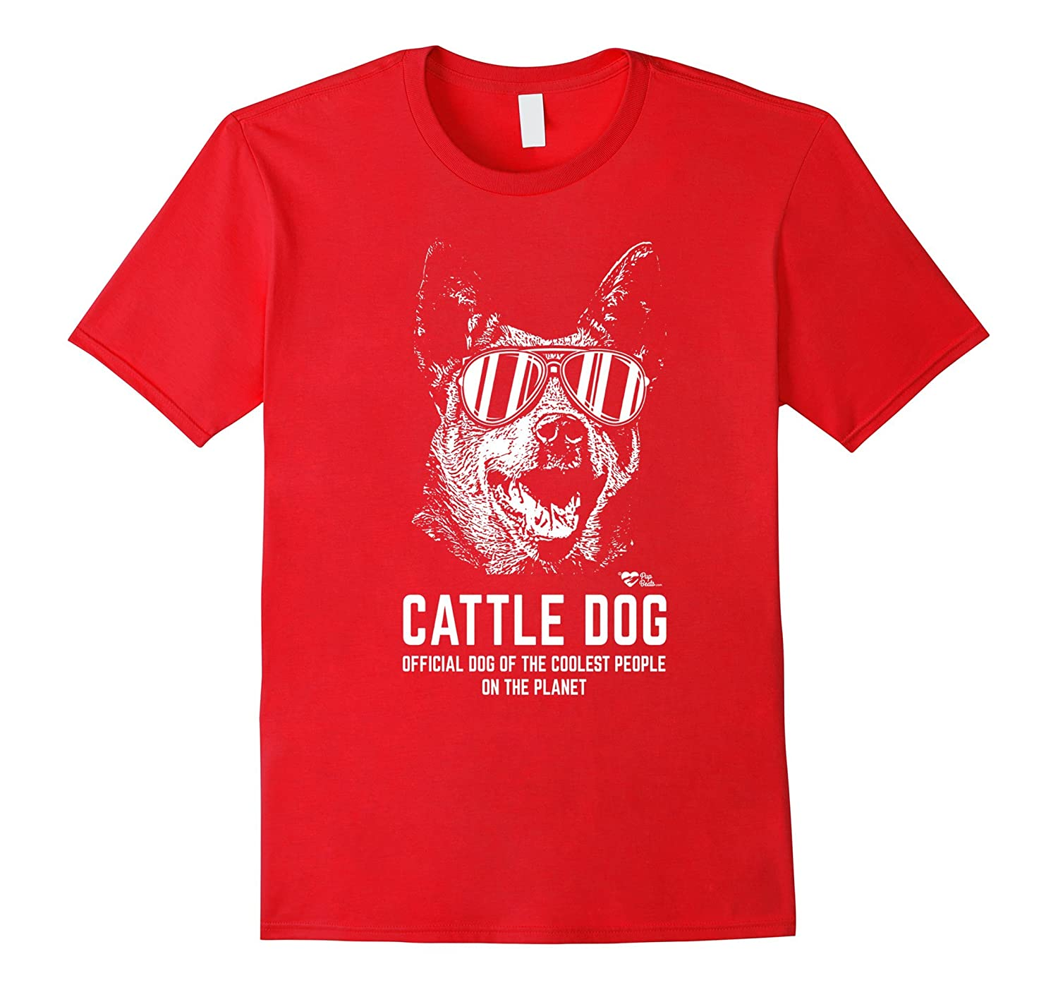 Australian Cattle Dog Tee Official Dog of the Coolest People-Art