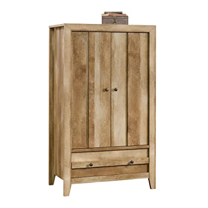 Sauder 419077 Armoire, Wardrobe, Furniture Dakota Pass, Craftsman Oak