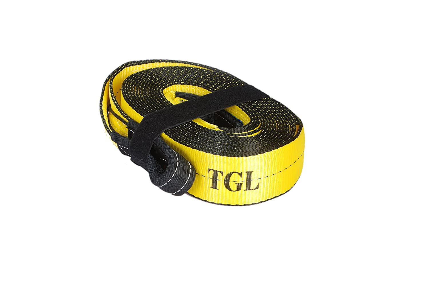 3', 30' tow strap, recovery strap with 30,000 pound capacity and reusable storage strap 30' tow strap TGL 3-30TS
