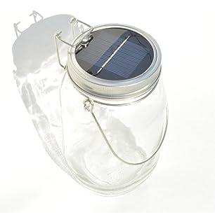Lampe solaire décorative en bocal à conserves avec anse | maison ...