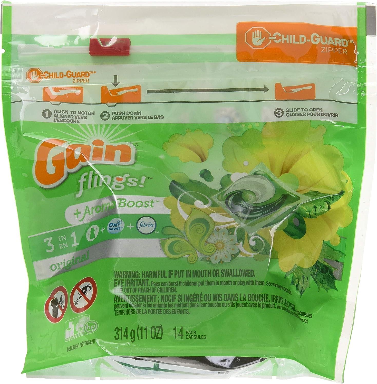 Gain Flings Original Laundry Detergent Pacs 14 Count