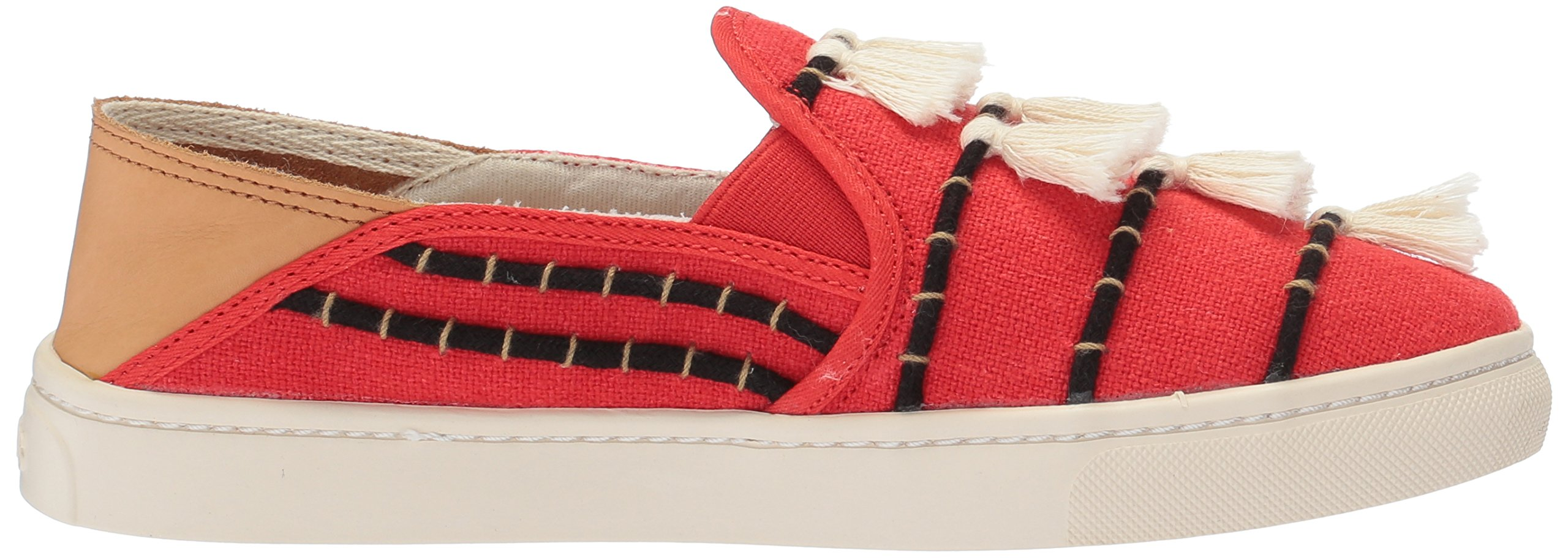 Soludos Women's Tassel Slip Sneaker, Red/Beige, 8 B US by Soludos (Image #7)