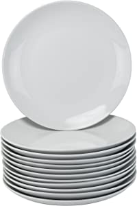 10 Strawberry Street CATERING-12CPDIN Dinner Plates, White