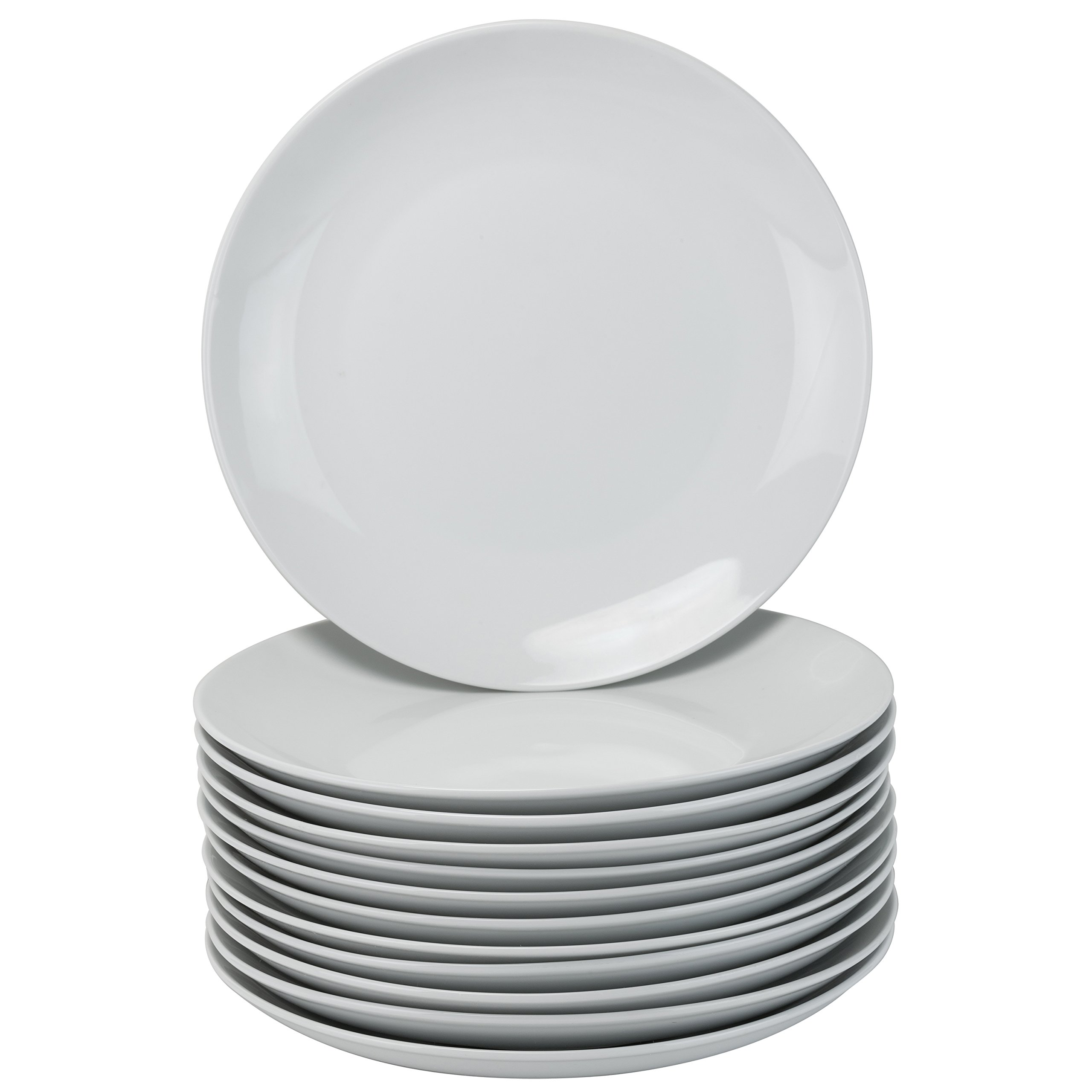 10 Strawberry Street CATERING-12CPDIN Dinner Plates, White by 10 Strawberry Street