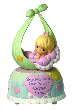 Precious Moments, Baby Gifts, Precious Little Blessings , Girl, Resin Music Box, 102417