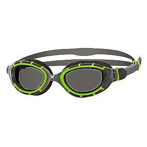 Zoggs Predator Flex Titanium Reactor Swimming Goggles, Unisex Adult