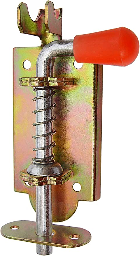 Muelle cerrojo Pestillo puerta Pestillo para puerta y traba 75//6/mm Rojo