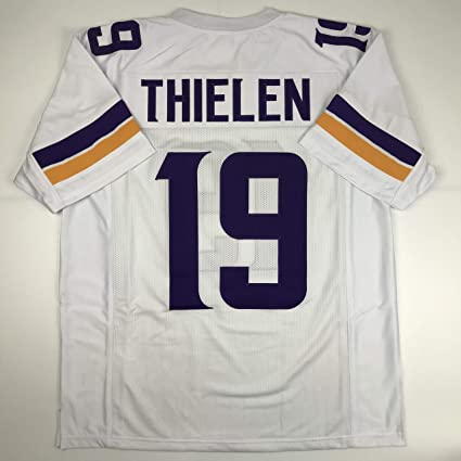san francisco 857fd aafd8 Amazon.com: Unsigned Adam Thielen Minnesota White Custom ...