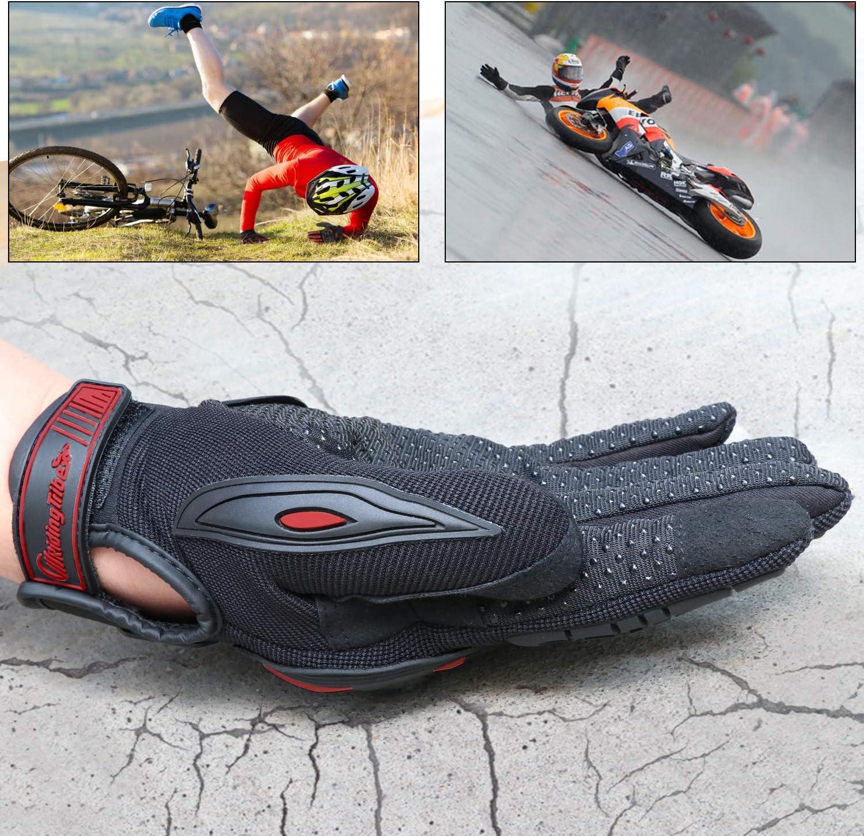 Escalada Guantes de Pantalla T/áctil Full Touch para Carreras de Motos COFIT Guantes de Motos M//L//XL MTB Senderismo y Otros Deportes al Aire Libre