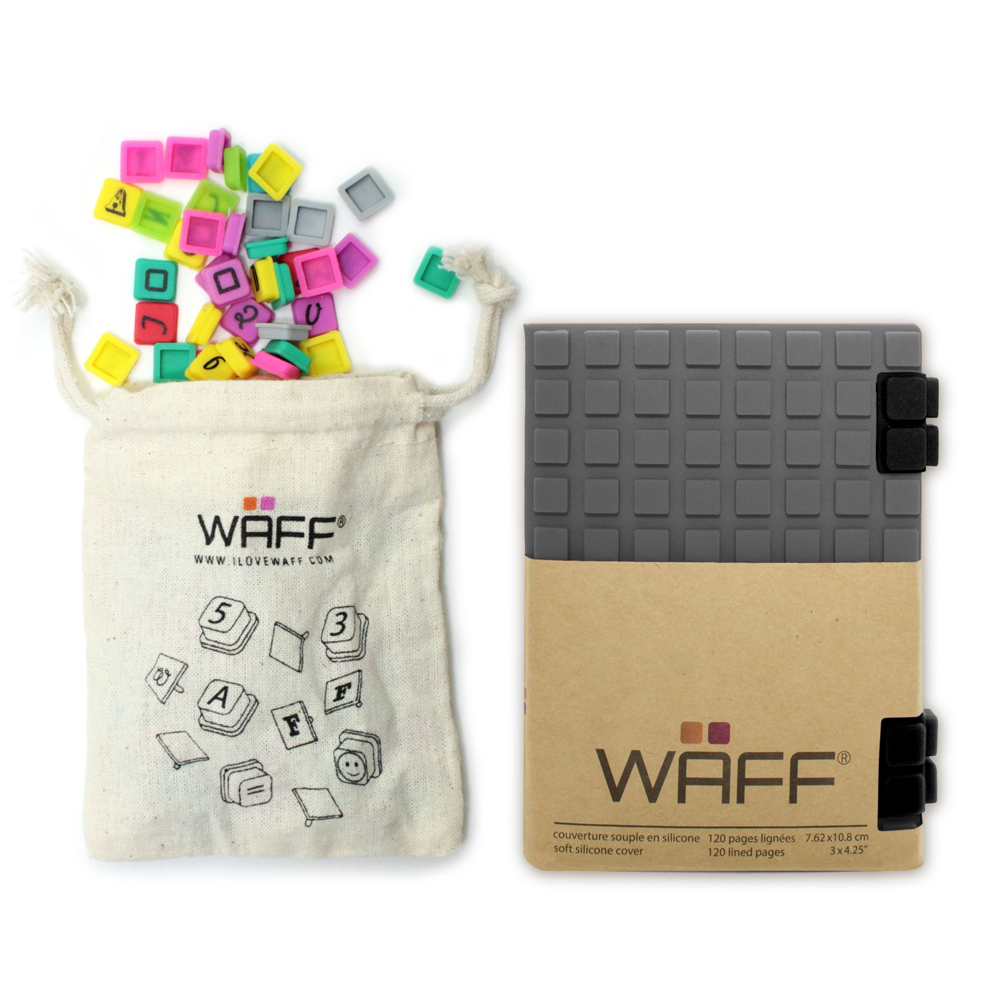 WAFF World Gifts Waff Journal and Game, Grey, 4.25 x 3 by WAFF World Gifts Inc. (Image #1)