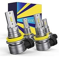 Honcs 9005/HB3 H11/H8 LED Headlight Bulbs Combo, 300% Brighter Wireless LED High Low Beam, 6500K Cool White LED…