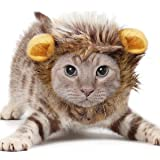 KINGMAS Lion Mane for Cat, Cute Pet Costume Lion Wig with Ears for Cat & Small Dog