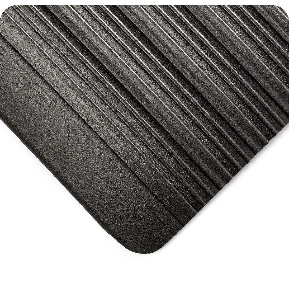 Wearwell 451.38x3x14BK Tuf Sponge Mat, 14' Length x 3' Width x 3/8'' Thick, Black