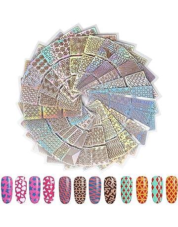 144 Pcs Plantillas de vinilos para uñas Set de pegatinas de uñas Conjunto de pegatinas de