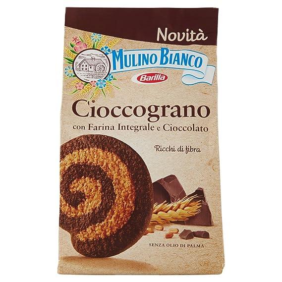 Mulino Bianco Biscotti Frollini Integrali Cioccograno con Farina Integrale  e Cioccolato Fondente, 330 gr Amazon.it Alimentari e cura della casa
