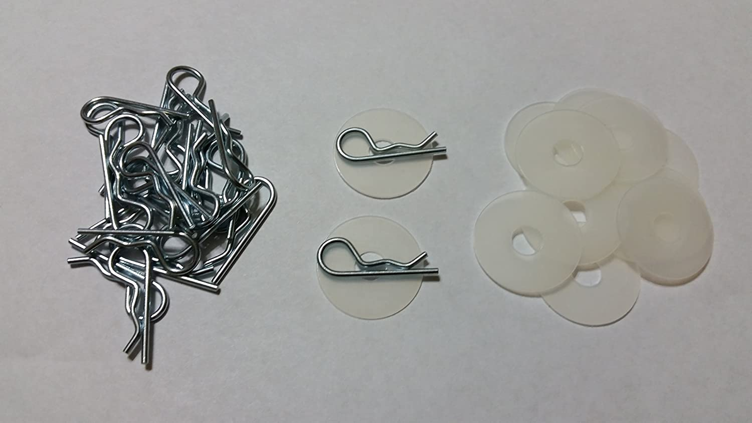 100 RC BODY CLIPS CAR TRUCK BUGGY 1//10 SCALE 12 THIN RC BODY WASHERS