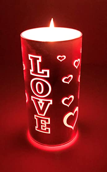 Amazon.com: American Star Love - Velas LED de San Valentín ...