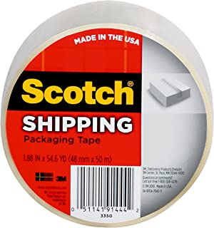 product image for Scotch Lightweight Shipping Packaging Tape, 1.88 Inches x 54.6 Yards, 1 Roll (3350)