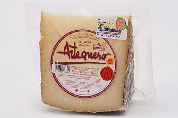 Queso Manchego Artesano Curado D.O.P. - Manchego Artesano D.O.P. - Pieza 1 Kg: Amazon.es: Alimentación y bebidas