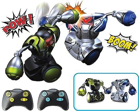 Incluye 2 robots télécommandés para horas de combate,Avance y escribir tu adversario hasta el K.O. f