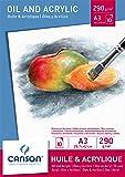Canson Bloc Huile/Acrylique 200005786 Papier à dessin Blanc
