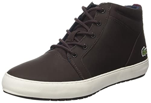 49dff01f41 Lacoste Women's Ampthill Chukka 317 1 High-top Trainers, Brown (Dk ...