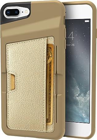 Silk - Funda Estilo Cartera para Apple iPhone, con Compartimento para Tarjetas de crédito,
