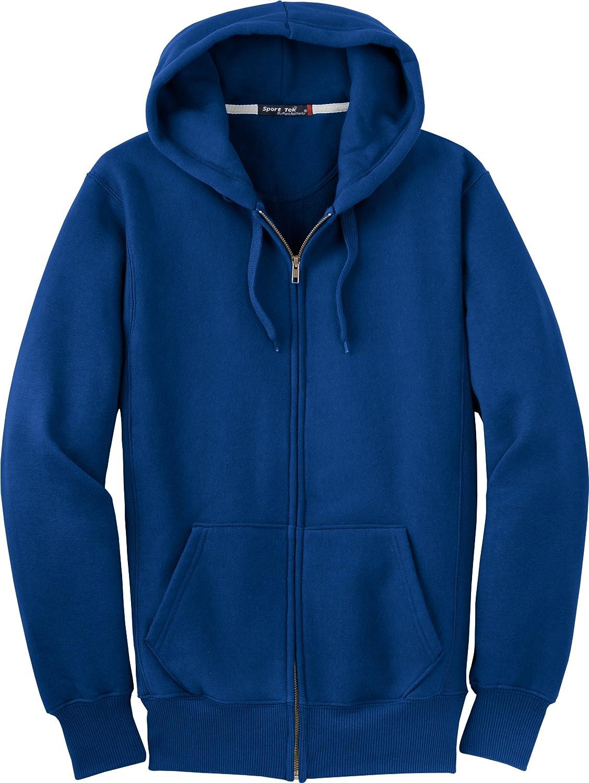 Royal XSmall SportTek F282 Super Heavyweight FullZip Hooded Sweatshirt