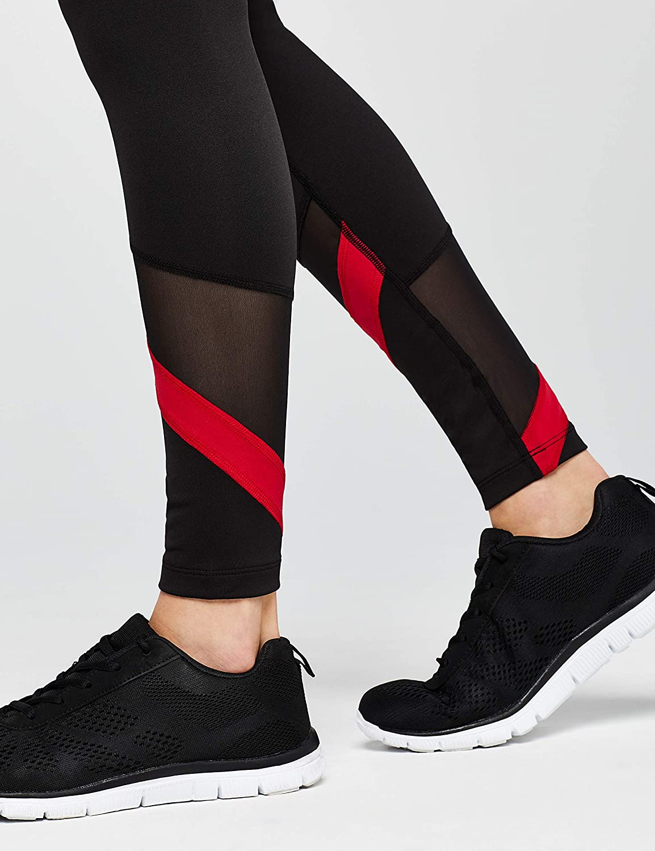 Marchio AURIQUE Leggings Sportivi a Vita Alta Colour Block Donna