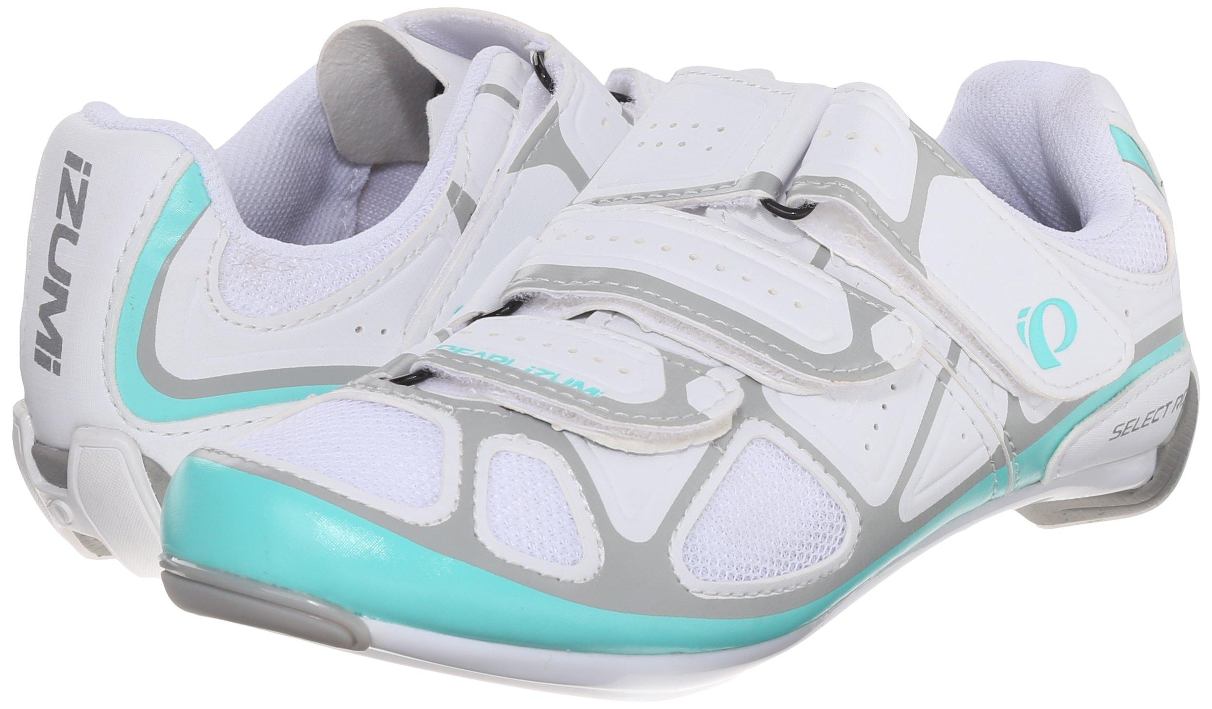 Pearl Izumi Women's W Select RD IV Cycling Shoe, White/Aqua Mint, 40 EU/8.3 B US by Pearl iZUMi (Image #6)