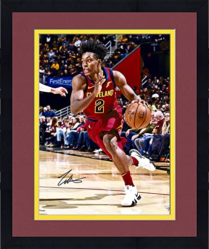 b9b802bec33 Framed Collin Sexton Cleveland Cavaliers Autographed 16 quot  x 20 quot   Red Driving Photograph - Fanatics