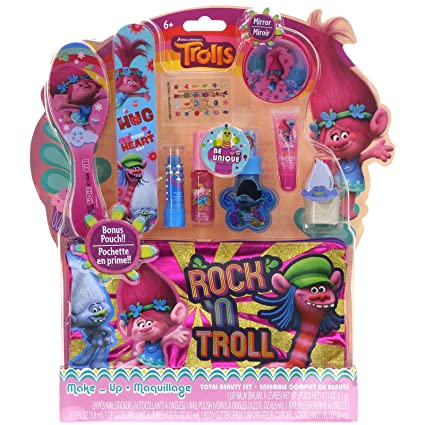 Amazon.com: Townley niña Dreamworks Trolls Kit de maquillaje ...