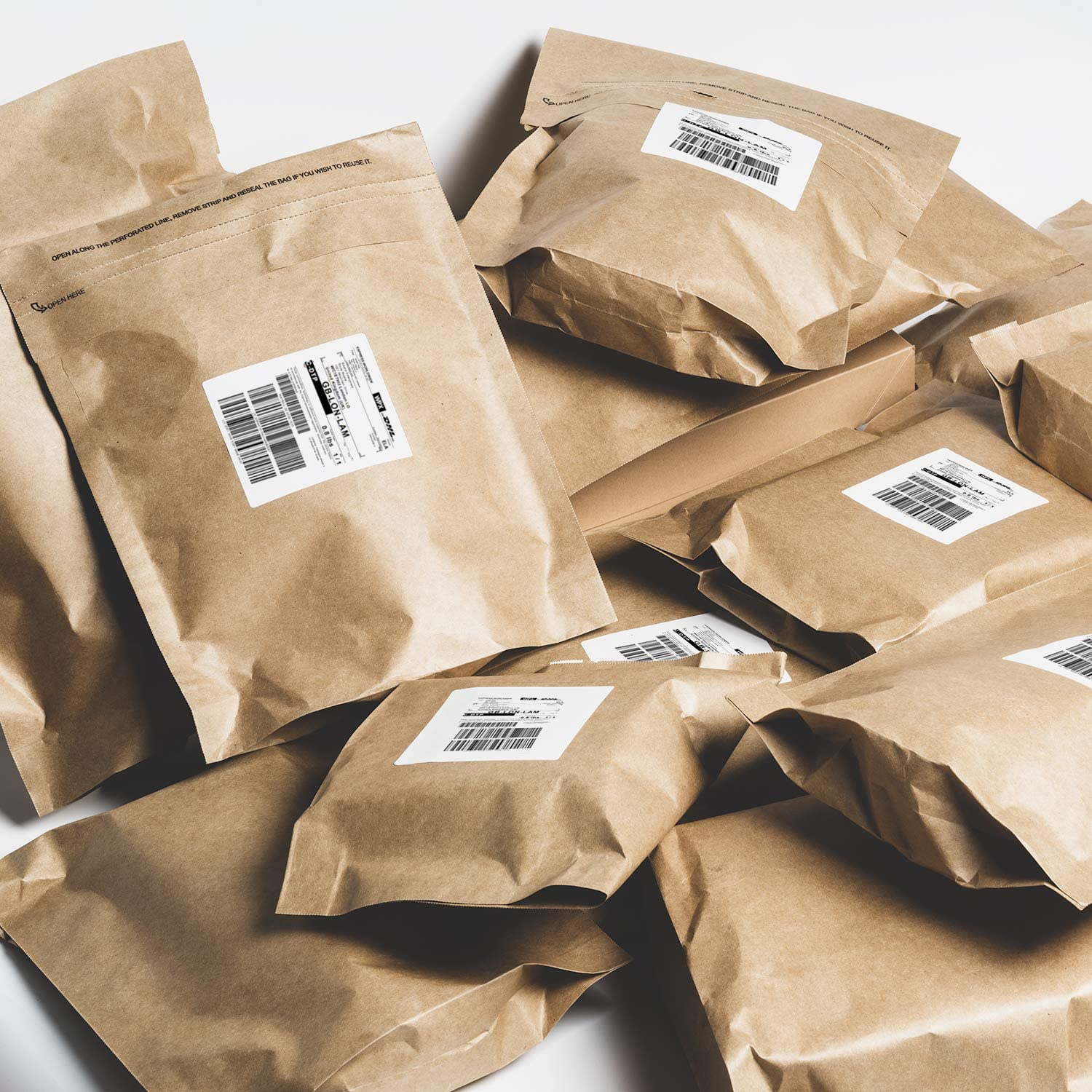Self Seal Shipping Bags 23.6 X 33 cm 100/% Recycle and Waterproof Reusable Packaging Great Idea for T-Shirt Clothing Shipping Bag 25Pack RUSPEPA Kraft Paper Poly Envelopes Mailer
